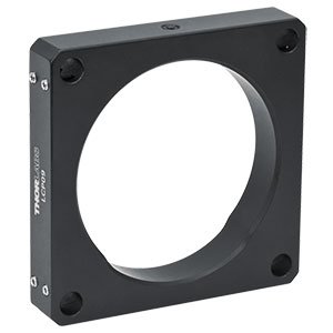 LCP09 -  60 mm Cage Plate with Ø2.2in (Ø56.0 mm) Double Bore for SM2 Lens Tube Mounting