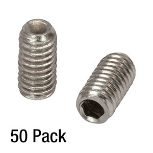 SS3M6 - M3 x 0.5 Stainless Steel Setscrew, 6 mm Long, 50 Pack