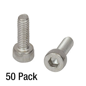 SH4MS12 - M4 x 0.7 Stainless Steel Cap Screw, 12 mm Long, Pack of 50