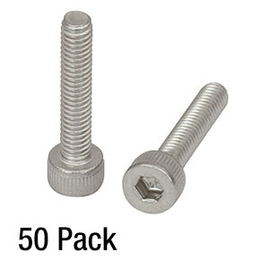 SH4MS20 - M4 x 0.7 Stainless Steel Cap Screw, 20 mm Long, 50 Pack