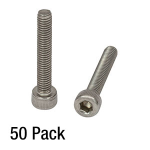 SH4MS25 - M4 x 0.7 Stainless Steel Cap Screw, 25 mm Long, 50 Pack
