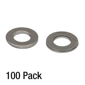 W25S050 - 1/4in Washer, M6 Compatible, Stainless Steel, 100 Pack