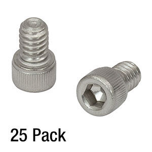SH25S038 - 1/4in-20 Stainless Steel Cap Screw, 3/8in Long, 25 Pack