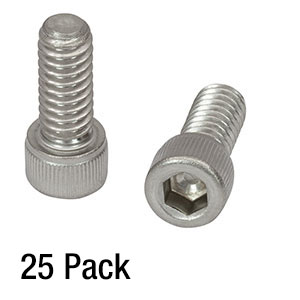 SH25S063 - 1/4in-20 Stainless Steel Cap Screw, 5/8in Long, 25 Pack