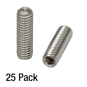 SS6MS20 - M6 x 1.0 Stainless Steel Setscrew, 20 mm Long, 25 Pack