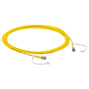 P1-405B-FC-5 - Single Mode Patch Cable, 405 - 532 nm, FC/PC, Ø3 mm Jacket, 5 m Long