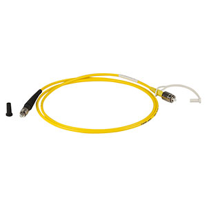 P2-460B-PCSMA-1 - Single Mode Patch Cable, 488 - 633 nm, FC/PC to SMA, Ø3 mm Jacket, 1 m Long