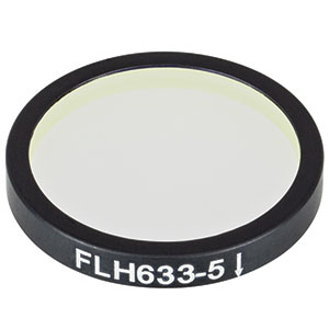 FLH633-5 - Premium Bandpass Filter, Ø25 mm, CWL = 633 nm, FWHM = 5 nm