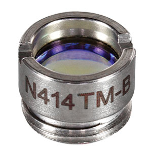 N414TM-B - f = 3.30 mm, NA = 0.47, Mounted Rochester Aspheric Lens, AR: 650 - 1050 nm