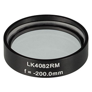 LK4082RM -  f= -200.0 mm, Ø1in, UVFS Mounted Plano-Concave Round Cyl Lens