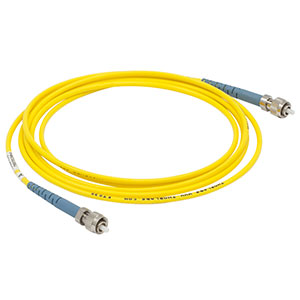 P1-460P-FC-2 - Low-Insertion-Loss SM Fiber Patch Cable, 2 m, 488 - 633 nm, FC/PC
