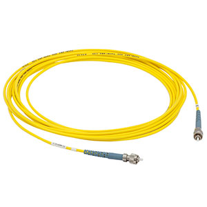 P1-460P-FC-5 - Low-Insertion-Loss SM Fiber Patch Cable, 5 m, 488 - 633 nm, FC/PC