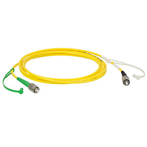 P5-405AR-2 - SM Patch Cable, AR-Coated FC/PC to Uncoated FC/APC, 405 - 532 nm, 2 m