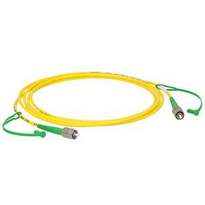P3-460AR-2 - SM Patch Cable, AR-Coated FC/APC to Uncoated FC/APC, 488 - 633 nm, 2 m