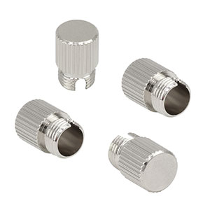 CAPFM - Metal Threaded Caps for FC Connectors, 4 Pack
