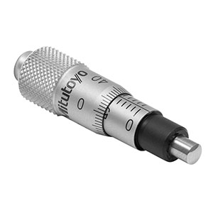 148-205ST-H - 6.5 mm Travel Micrometer Head with 10 µm Graduations, Spherical Tip, 2 mm Hex