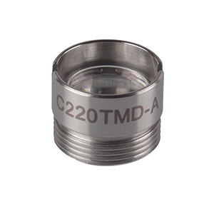 C220TMD-A - f = 11.00 mm, NA = 0.25, Mounted Aspheric Lens, ARC: 350 - 700 nm