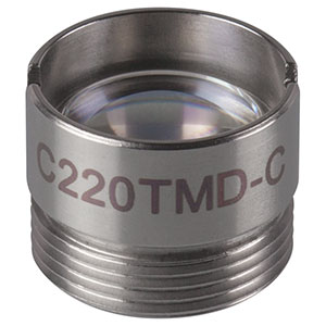 C220TMD-C - f = 11.0 mm, NA = 0.25, Mounted Geltech Aspheric Lens, AR: 1050-1700 nm