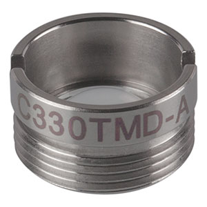C330TMD-A - f = 3.1 mm, NA = 0.7, Mounted Aspheric Lens, ARC: 350 - 700 nm