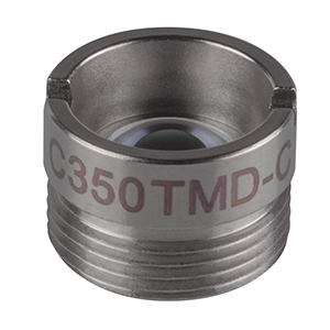 C350TMD-C - f = 4.50 mm, NA = 0.43, Mounted Aspheric Lens, ARC: 1050 -1700 nm