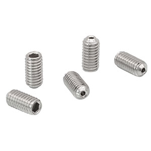 SS6MS12V - M6 x 1.0 Vacuum-Compatible Vented Setscrew, A4 Stainless, 12 mm Long, 5 Pack