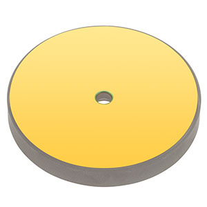 CM508-200CH4-M02 - Ø2in Gold-Coated Herriott Cell Mirror, Ø4.0 mm Center Hole, f=200.0 mm