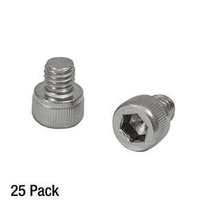 SH6MS06 - M6 x 1.0 Stainless Steel Cap Screw, 6 mm Long, 25 Pack