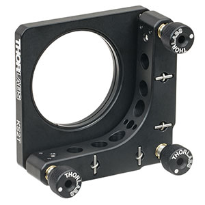 "KS2T - SM2-Threaded Precision Kinematic Mirror Mount for Ø2"" Optics, 3 Adjusters"
