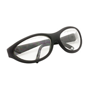 LG6B - Laser Safety Glasses, Clear Lenses, 93% Visible Light Transmission, Sport Style