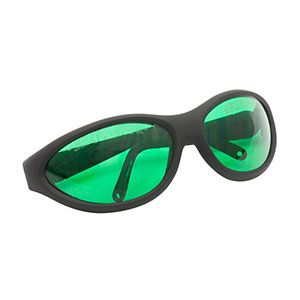 LG8B - Laser Safety Glasses, Emerald Lenses, 35% Visible Light Transmission, Sport Style