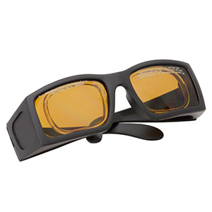 LG9A - Laser Safety Glasses, Amber Lenses, 25% Visible Light Transmission, Comfort Style