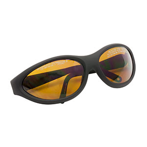 LG9B - Laser Safety Glasses, Amber Lenses, 25% Visible Light Transmission, Sport Style