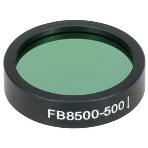 FB8500-500 - Ø1in IR Bandpass Filter, CWL = 8.50 µm, FWHM = 500 nm