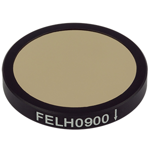 FELH0900 - Ø25.0 mm Premium Longpass Filter, Cut-On Wavelength: 900 nm