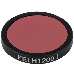 FELH1200 - Ø25.0 mm Premium Longpass Filter, Cut-On Wavelength: 1200 nm