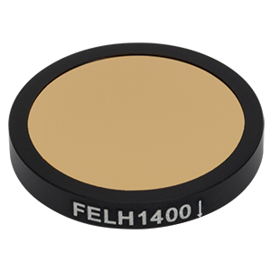 FELH1400 - Ø25.0 mm Premium Longpass Filter, Cut-On Wavelength: 1400 nm
