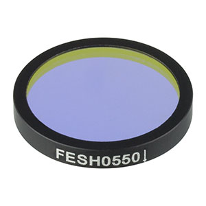FESH0550 - Ø25.0 mm Premium Shortpass Filter, Cut-Off Wavelength: 550 nm