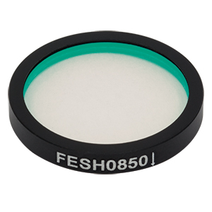 FESH0850 - Ø25.0 mm Premium Shortpass Filter, Cut-Off Wavelength: 850 nm