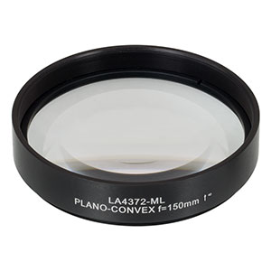 LA4372-ML - Ø75 mm UVFS Plano-Convex Lens, SM3-Threaded Mount, f = 150.0 mm, Uncoated