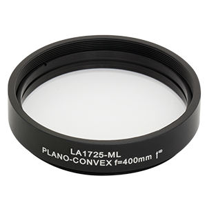LA1725-ML - Ø2in N-BK7 Plano-Convex Lens, SM2-Threaded Mount, f = 400 mm, Uncoated