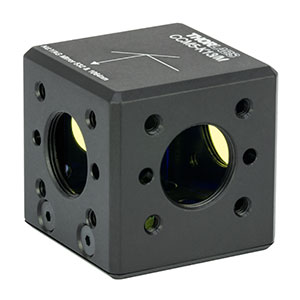 CCM5-K13/M - 16 mm Cage-Cube-Mounted Nd:YAG Turning Prism Mirror, 532 and 1064 nm, M4 Tap