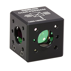 CCM5-PBS204/M - 16 mm Cage-Cube-Mounted Polarizing Beamsplitter Cube, 1200-1600 nm, M4 Tap