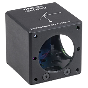 CCM1-K13/M - 30 mm Cage-Cube-Mounted Nd:YAG Turning Mirror, 532 and 1064 nm, M4 Tap