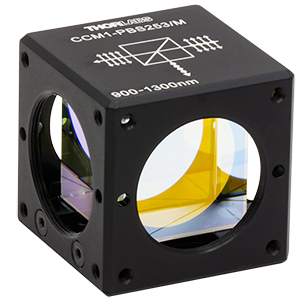 CCM1-PBS253/M - 30 mm Cage Cube-Mounted Polarizing Beamsplitter Cube, 900-1300 nm, M4 Tap