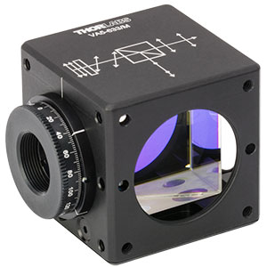 VA5-633/M - 30 mm Cage Cube-Mounted Variable Beamsplitter for 633 nm, M4 Tap