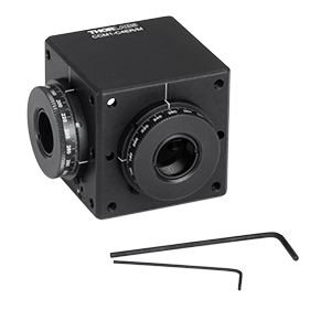 CCM1-C4ER/M - Clamping 4-Port Prism/Mirror 30 mm Cage Cube, 2 Rotation Mounts @ 90°, M4 Tap