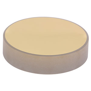 PF2011-M03 - Ø2in (50.8 mm) Zerodur<sup>®</sup> Unprotected Gold Mirror