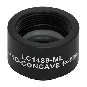 LC1439-ML - Ø1/2in N-BK7 Plano-Concave Lens, SM05-Threaded Mount, f = -50.0 mm, Uncoated