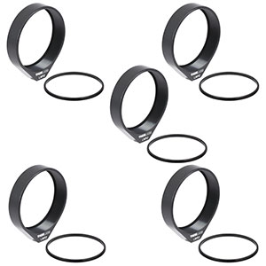 LMR2-P5 - Lens Mount with Retaining Ring for Ø2in Optics, 8-32 Tap, 5 Pack