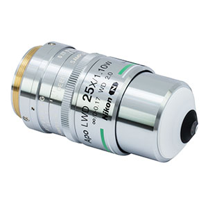 N25X-APO-MP1300 - 25X Nikon CFI APO LWD Objective, 1.10 NA, 2.0 mm WD, 420 - 1400 nm